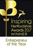 Inspiring Hertfordshire awards 2017 winner entrepreneur of the year