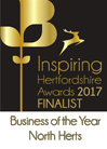 Inspiring Hertfordshire Awards 2017 Finalist Business of the Year North Herts